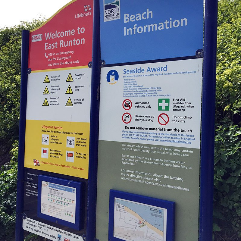 East Runton beach information.