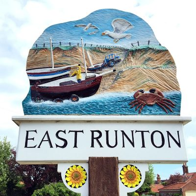 East Runton village sign.