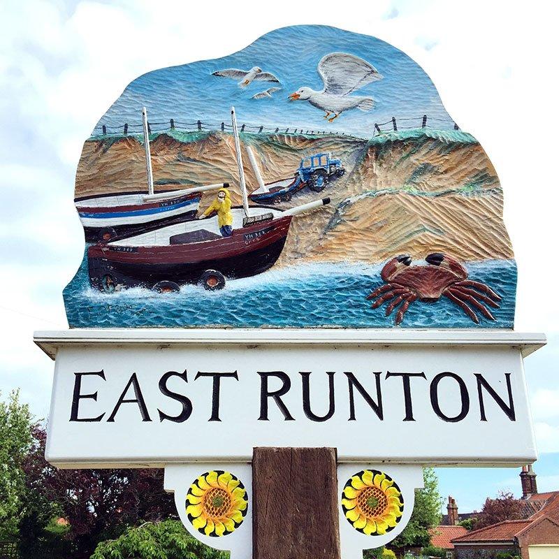 East Runton village sign.