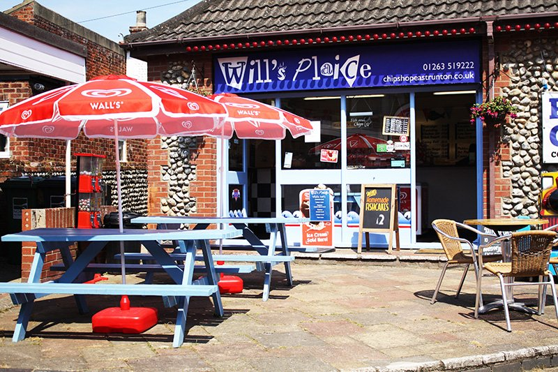 Will's Plaice Fish & Chip Shop in West Runton.